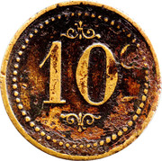 10 Centimes (Drink Token) – reverse