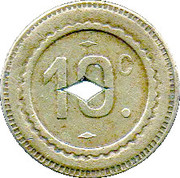 10 Centimes - Marchand (Valenciennes) – reverse