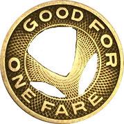 1 Fare - C.A.Lea Transportation Co. (Burlington, NC) – reverse