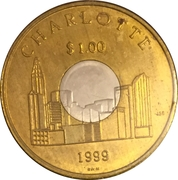 1 Dollar - Charlotte Coin (Charlotte, NC) – obverse