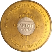 1 Dollar - Charlotte Coin (Charlotte, NC) – reverse