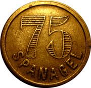 75 Centimes - Spanagel – obverse