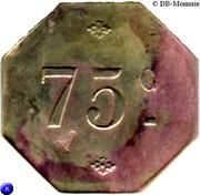 75 Centimes – reverse