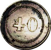 40 Centimes – reverse