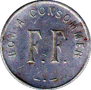 75 Centimes - Bon a consommer F.F – obverse