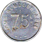75 Centimes - Bon a consommer F.F – reverse