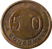 50 Centimes A Consommer – obverse