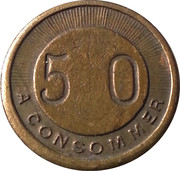 50 Centimes A Consommer – reverse