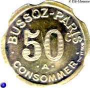 50 Centimes - Bussoz (Paris) – obverse