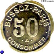 50 Centimes - Bussoz (Paris) – reverse