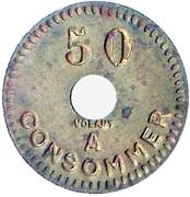 50 Centimes - Monopole (Lyon) – reverse