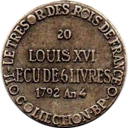 Token Collection BP - Le Trésor des Rois de France (№20 - Ecu de 6 Livres) – reverse