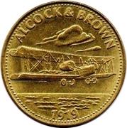 Shell Token - Man In Flight (Alcock & Brown) – obverse