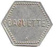Token - Baguette (Union Сoopérative; Saulnes) – reverse