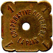 1 Pain - Coopérative ouvrière La Paix (Roubaix) – obverse