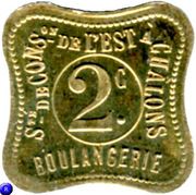 2 Centimes - Boulangerie (Chalons) – obverse