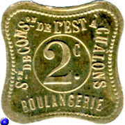 2 Centimes - Boulangerie (Chalons) – reverse