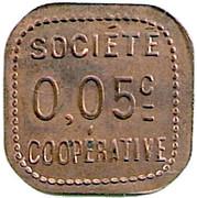 5 Centimes - Société coopérative Amplepuis – reverse