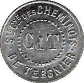 5 Centimes - Société Coopératives des cheminots (Tergnier) – obverse