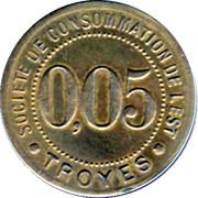 5 Centimes - Société de consommation de l'Est (Troyes) – obverse