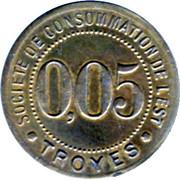 5 Centimes - Société de consommation de l'Est (Troyes) – reverse