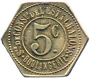 5 Centimes - Boulangerie (Chalons) – reverse