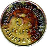 5 Centimes - Société Coopérative de Consommation La buche Belfortaine (Belfort) – obverse