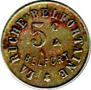 5 Centimes - Société Coopérative de Consommation La buche Belfortaine (Belfort) – reverse
