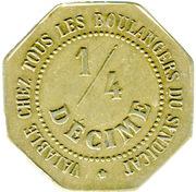 ¼ Décime - Chambre Syndicale des Patrons Boulangers (Nantes) – reverse