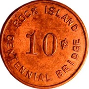 10 Cents - Rock Island Centennial Bridge (Rock Island, Illinois) – reverse