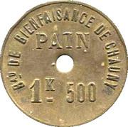 1.5 Kg Pain - Bureau de Bienfaisance de Chauny – obverse