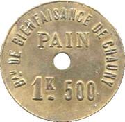 1.5 Kg Pain - Bureau de Bienfaisance de Chauny – reverse