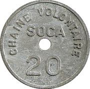 20 Francs - SOCA Chaine volontaire (Strasbourg) – reverse