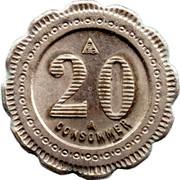 20 Centimes - Comptoir Franco Belgie Bernard – reverse