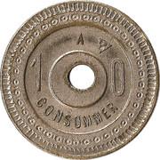 10 Centimes - A. Barme & ses fil – reverse