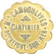25 Centimes - M. Camboulives - Cantinier - Rochefort [17] – obverse