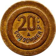 20 Centimes - PP – reverse