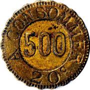 20 Centimes - M (Lille) – reverse