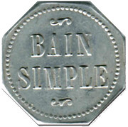 Token - Bain Simple (General Committee; Lyon) – reverse