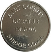 50 Cents - Burt County Bridge Comm. (Decatur, NE) – obverse