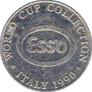 Esso Token - 1990 England World Cup Collection (Peter Shilton) – reverse