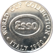 Esso Token - 1990 Scotland World Cup Collection (Gary Gillespie) – reverse