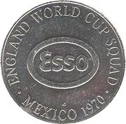 Esso Token - 1970 England World Cup Squad (Bobby Charlton) – reverse