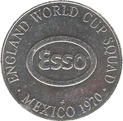 Esso Token - 1970 England World Cup Squad (Ian Moore) – reverse