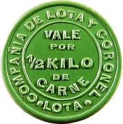 ½ Kilo de Carne - Compañía de Lota y Coronel (Almacén Nº 2) – obverse