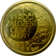 Mint Set Token 2003 - 10 Years Czech Mint – reverse