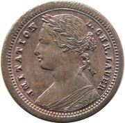 "Various denominations - UK Queen Victoria Young Head (Wreath/ribbon) Miniature ""Coins"" – obverse"