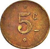 5 Centimes - Grimaldi Entrepeneur - Tunis – reverse
