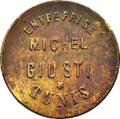 5 Centimes - Michel Giusti Enterprise - Tunis – obverse