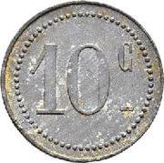 10 Centimes - L.L Sokra – reverse